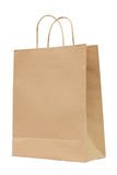 Brown recycled paper bag Royalty Free Stock Images
