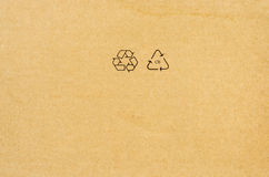 Brown recycled paper Stock Images