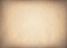 Brown recycled paper texture with vignette Stock Photo
