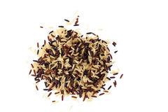 Brown, red and black rice mix Royalty Free Stock Photography