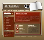 Brown and Red Book Web Template Royalty Free Stock Photography