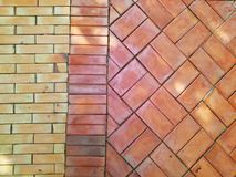Brown and red  brick pattern Stock Photo