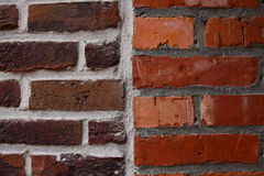 Brown and Red Brick Wall Stock Photos
