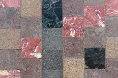 Brown and red checkered Floor Tiles. Background, texture Royalty Free Stock Image