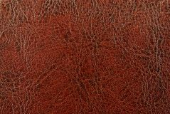 Brown red leather texture Stock Images