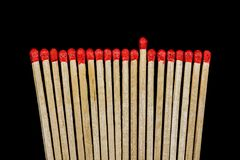 Brown and Red Matches Sticks Near Each Other Royalty Free Stock Image