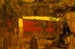 Brown, Red, and Yellow Abstract Painting Royalty Free Stock Photo