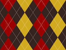 Brown red yellow argyle seamless pattern Stock Photos