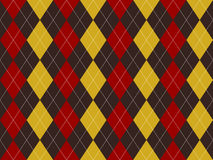 Brown red yellow argyle texture seamless pattern Royalty Free Stock Images