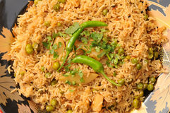 Brown-Reis mit Gemüse Stockfotografie