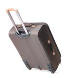 Brown-Reisenbeutel ein mit Hintergrund Lizenzfreies Stockbild