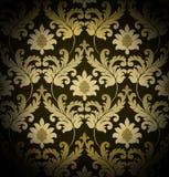 Brown renaissance background. Decorative dark brown renaissance background Royalty Free Stock Photography