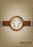 Brown restaurant menu design Royalty Free Stock Images