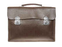 Brown retro briefcase Royalty Free Stock Photos