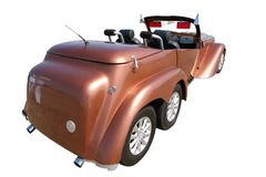 Brown Retro Car Royalty Free Stock Images