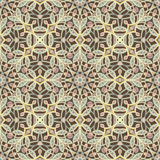 Brown retro floral pattern Stock Photos