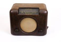brown retro isolerad gammal radio Royaltyfria Bilder