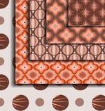 Brown retro pattern Stock Image