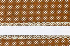 Brown retro polka dot Stock Photography