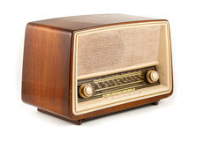 Brown retro radio Royalty Free Stock Image