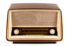 Brown retro radio Royalty Free Stock Images