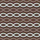 Brown retro seamless pattern Stock Photography