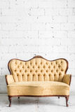Brown Retro Sofa Royalty Free Stock Photography