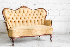Brown Retro Sofa Royalty Free Stock Photos