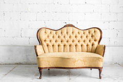 Brown Retro Sofa Royalty Free Stock Photography