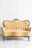 Brown Retro Sofa Stock Photos