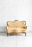 Brown Retro Sofa Stock Photography