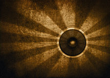 Brown retro starburst speaker royalty free stock photos