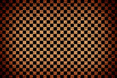 Brown revetment wall putty vignetting effect texture black squares vector illustration