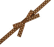 Brown ribbon with bow Stock Images