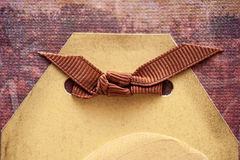 Brown ribbon and place for text Royalty Free Stock Photos