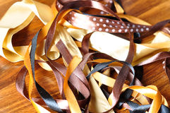 Brown ribbons. A selection of brown ribons royalty free stock photos
