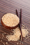 Brown rice. Stock Photography