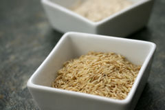 Brown Rice. And whole wheat flour for healthy cooking Stock Image