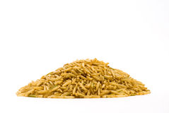 Brown rice. Close up shot for background Royalty Free Stock Image