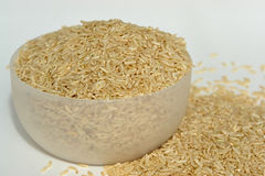 Brown rice. In a bowl Royalty Free Stock Photos