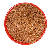 Brown rice in a bowl Stock Image