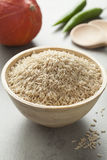 Brown rice in a bowl Royalty Free Stock Images
