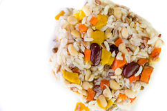 Brown rice with cereal Royalty Free Stock Photography