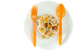 Brown rice with cereal Stock Image