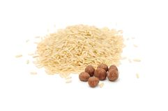 Brown Rice And Chocolate Rice Balls Royalty Free Stock Photos