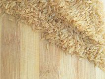 Brown rice corner Stock Photography