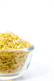 Brown Rice in a glass bowl. Stock Photography