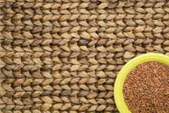Brown rice grain Stock Photography