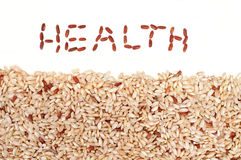 Brown rice and Health Stock Photos