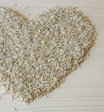 Brown Rice Heart Royalty Free Stock Photos